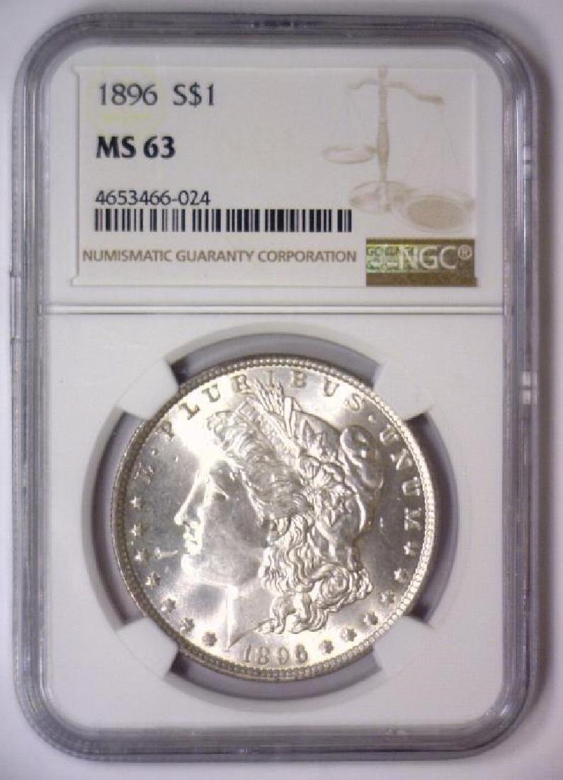 Investor Lot of 5 1896 Morgan Silver $1 NGC MS63 - 4
