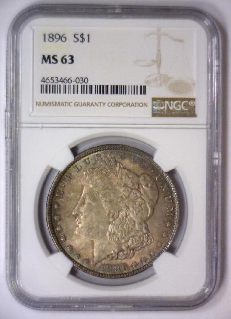 Investor Lot of 5 1896 Morgan Silver $1 NGC MS63 - 6