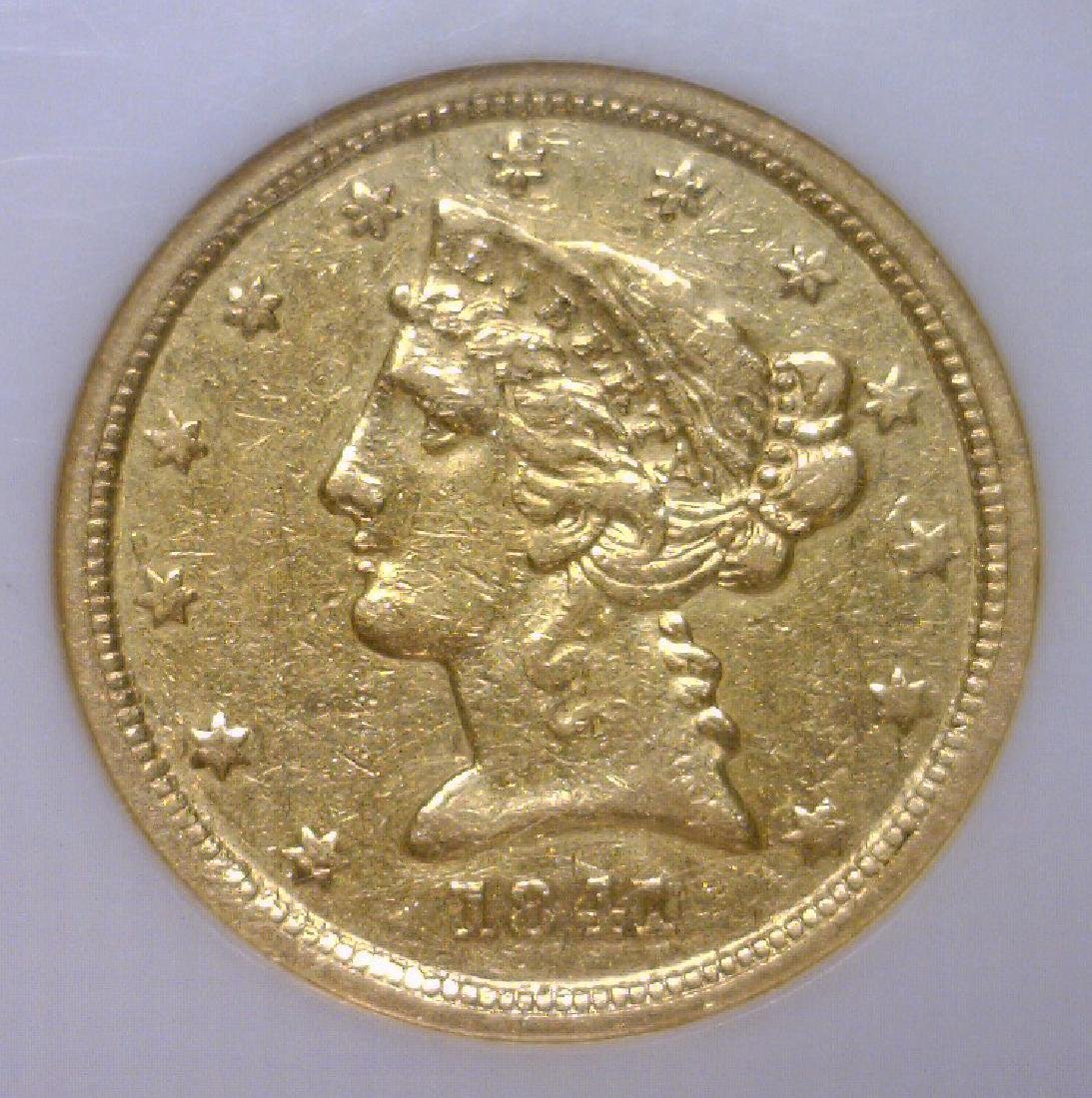 1841-C $5 Liberty Gold Half Eagle Scarce NGC XF45