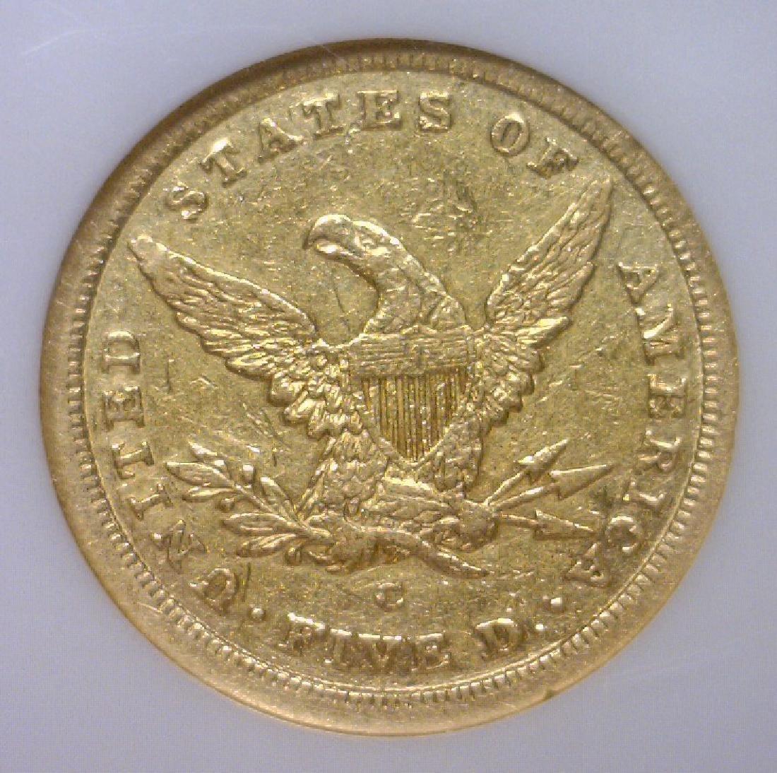 1841-C $5 Liberty Gold Half Eagle Scarce NGC XF45 - 3