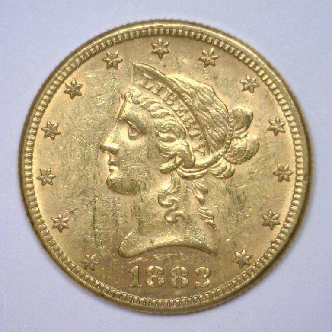 1882 $10 Liberty Gold Eagle Extra Fine XF45