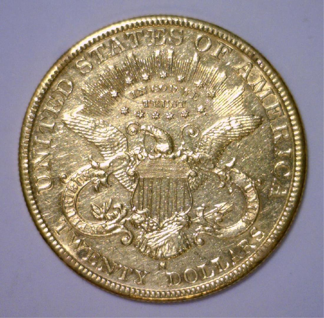 1893-S $20 Liberty Head Gold Circulated Polished - 2