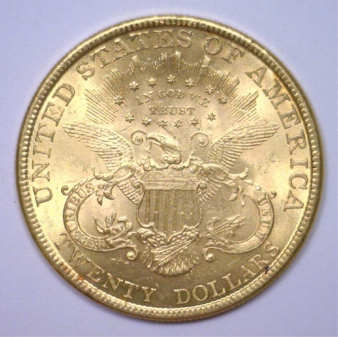 1896 $20 Liberty Gold Double Eagle BU MS63+ - 2
