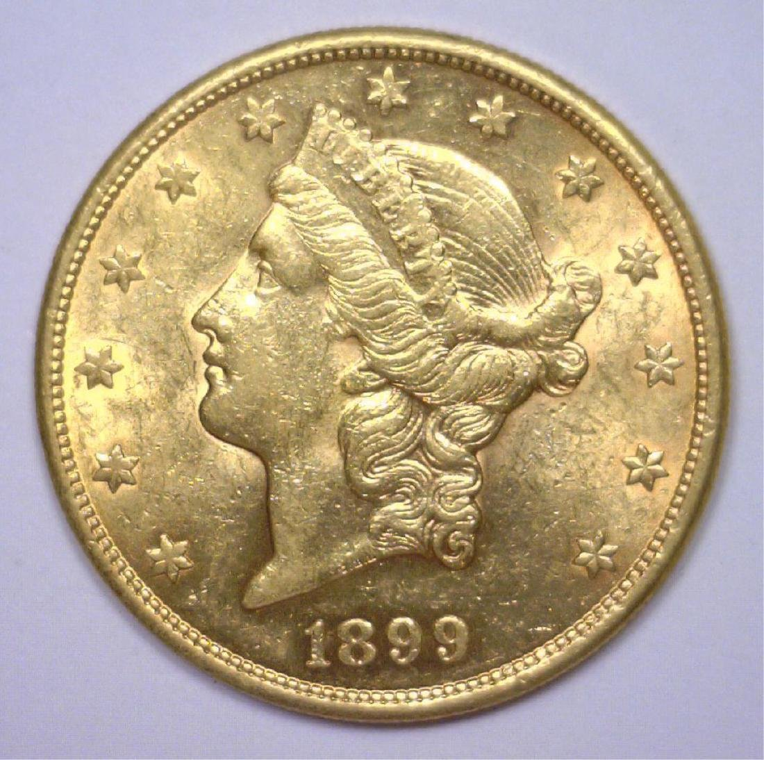 1899-S $20 Liberty Gold Double Eagle BU