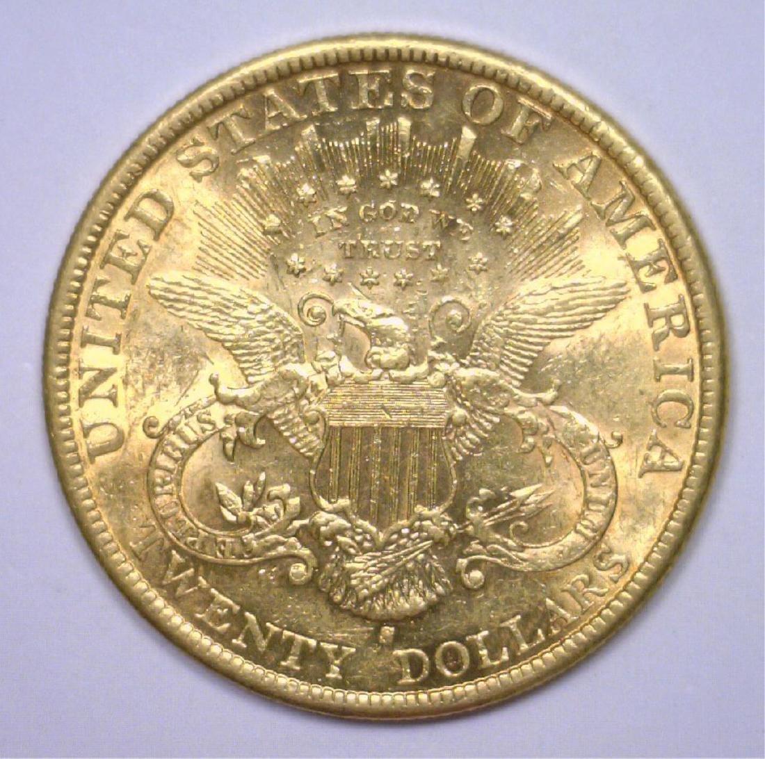 1899-S $20 Liberty Gold Double Eagle BU - 2