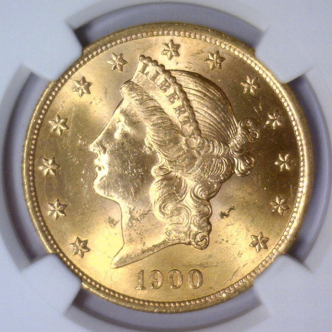 1900 $20 Liberty Double Eagle Gold NGC MS63