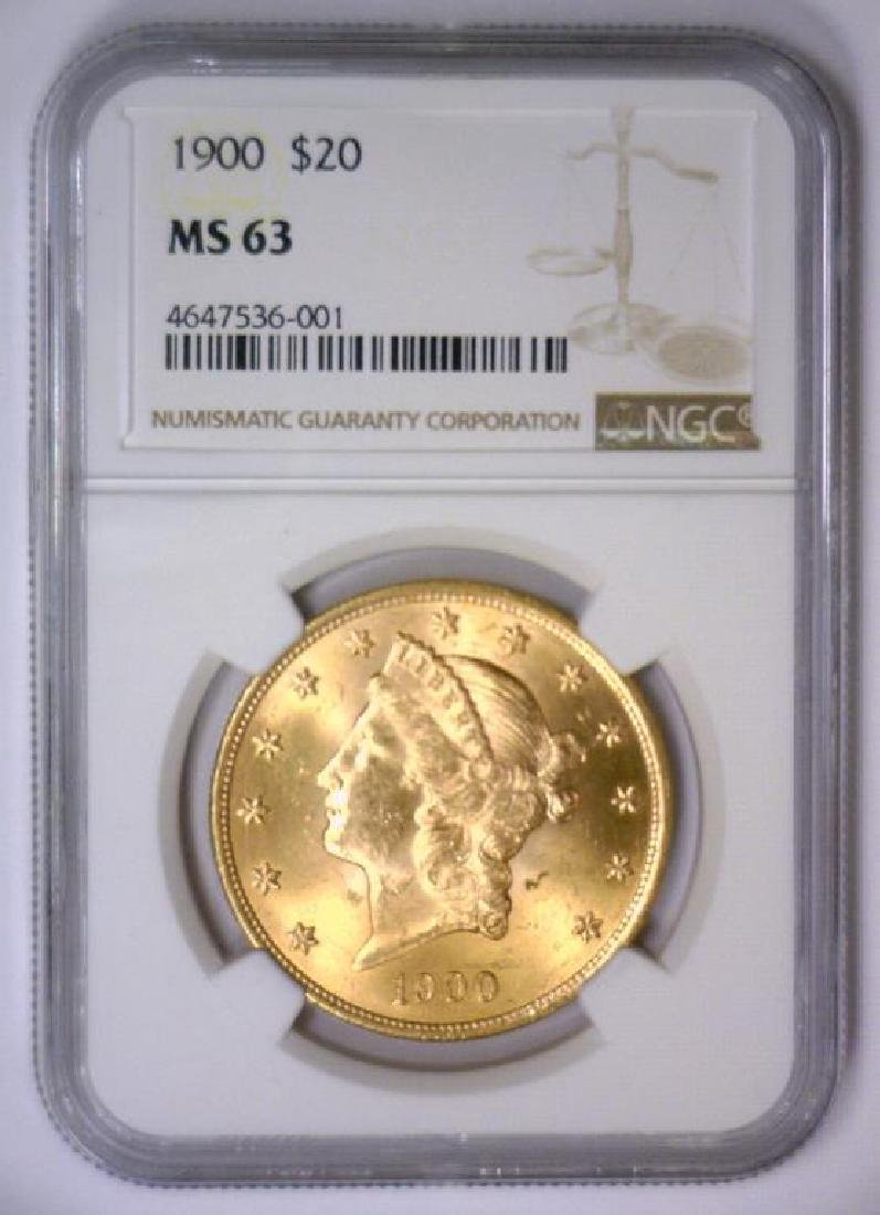 1900 $20 Liberty Double Eagle Gold NGC MS63 - 2