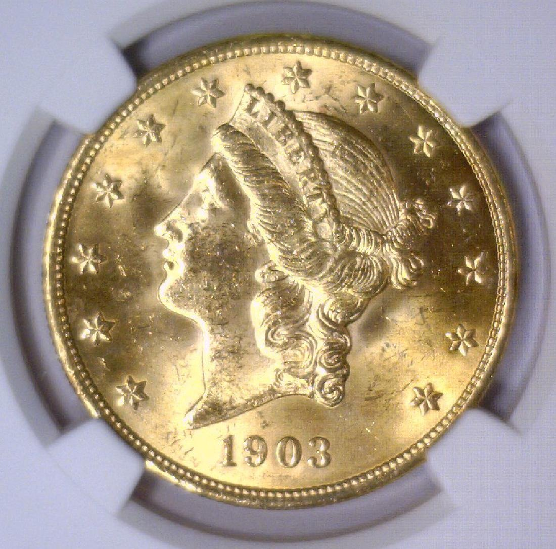1903 $20 Liberty Double Eagle Gold NGC MS64