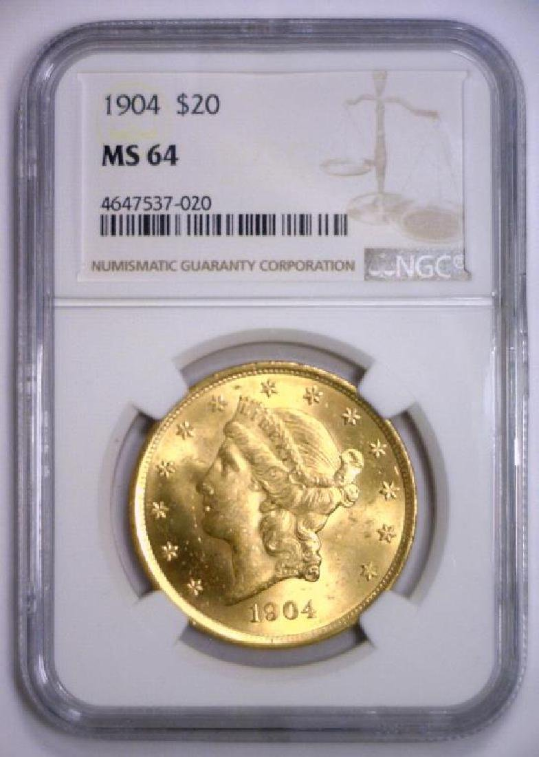 1904 $20 Liberty Double Eagle Gold NGC MS64 - 2