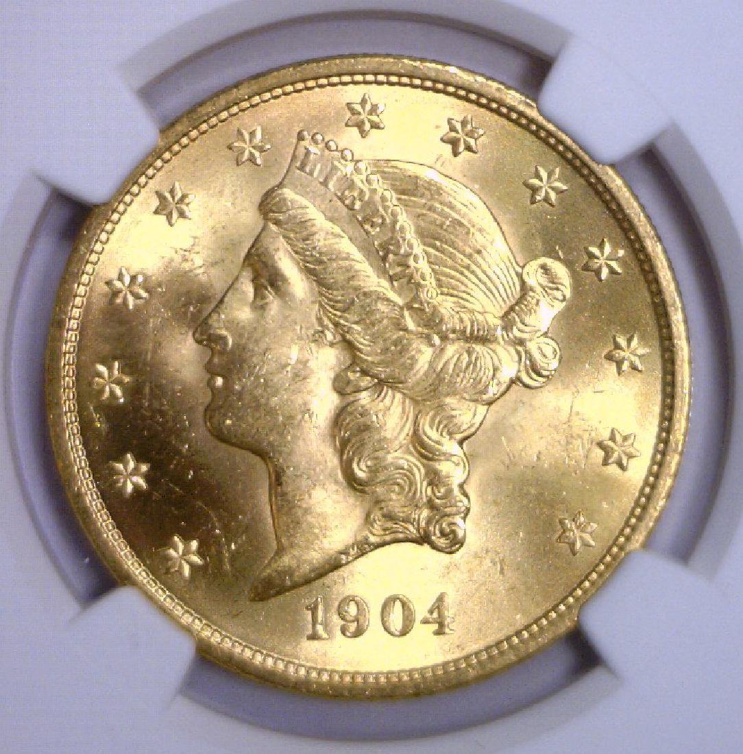 1904 $20 Liberty Double Eagle Gold NGC MS64