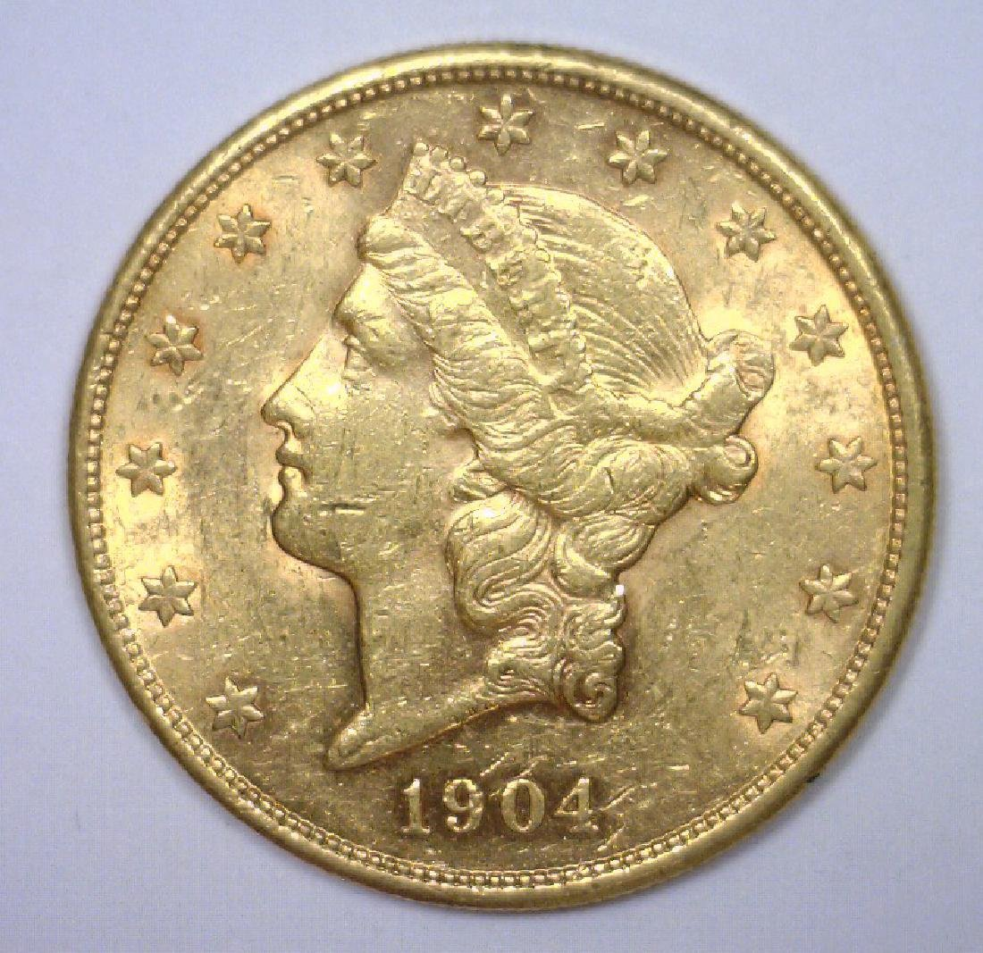 1904-S $20 Liberty Gold Double Eagle BU