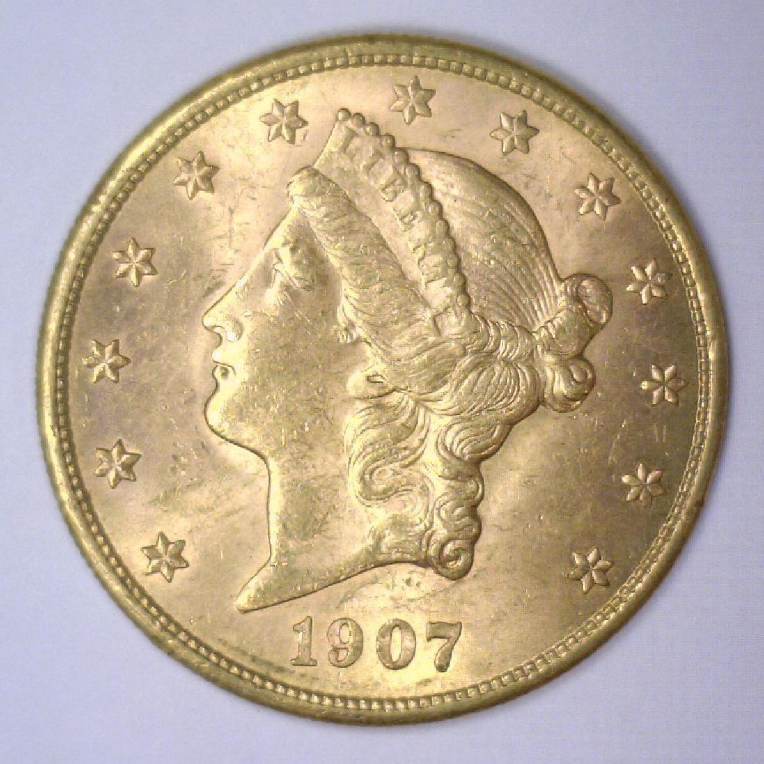 01907-S $20 Liberty Gold Double Eagle BU
