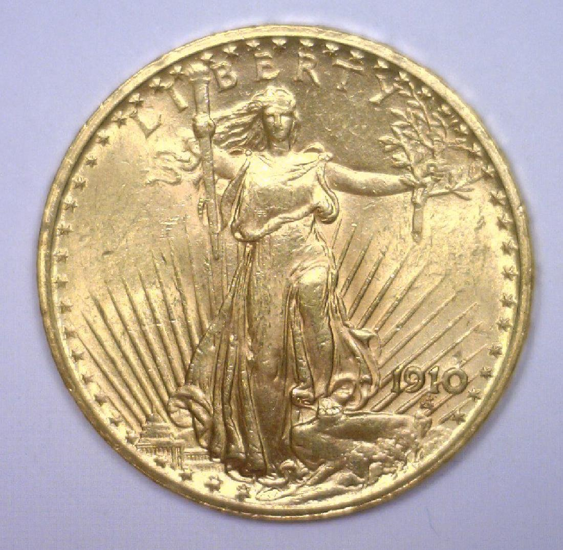 1910 $20 St. Gaudens Gold Double Eagle BU