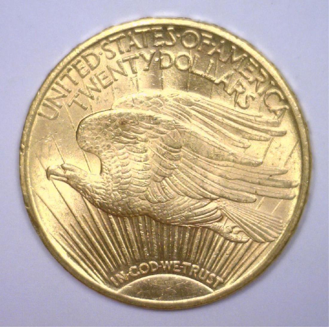 1910 $20 St. Gaudens Gold Double Eagle BU - 2