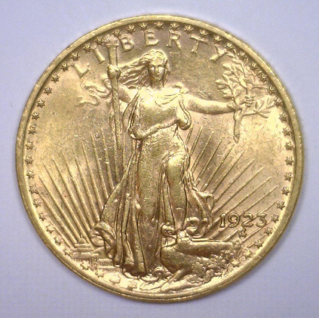 1923 $20 St. Gaudens Gold Double Eagle BU