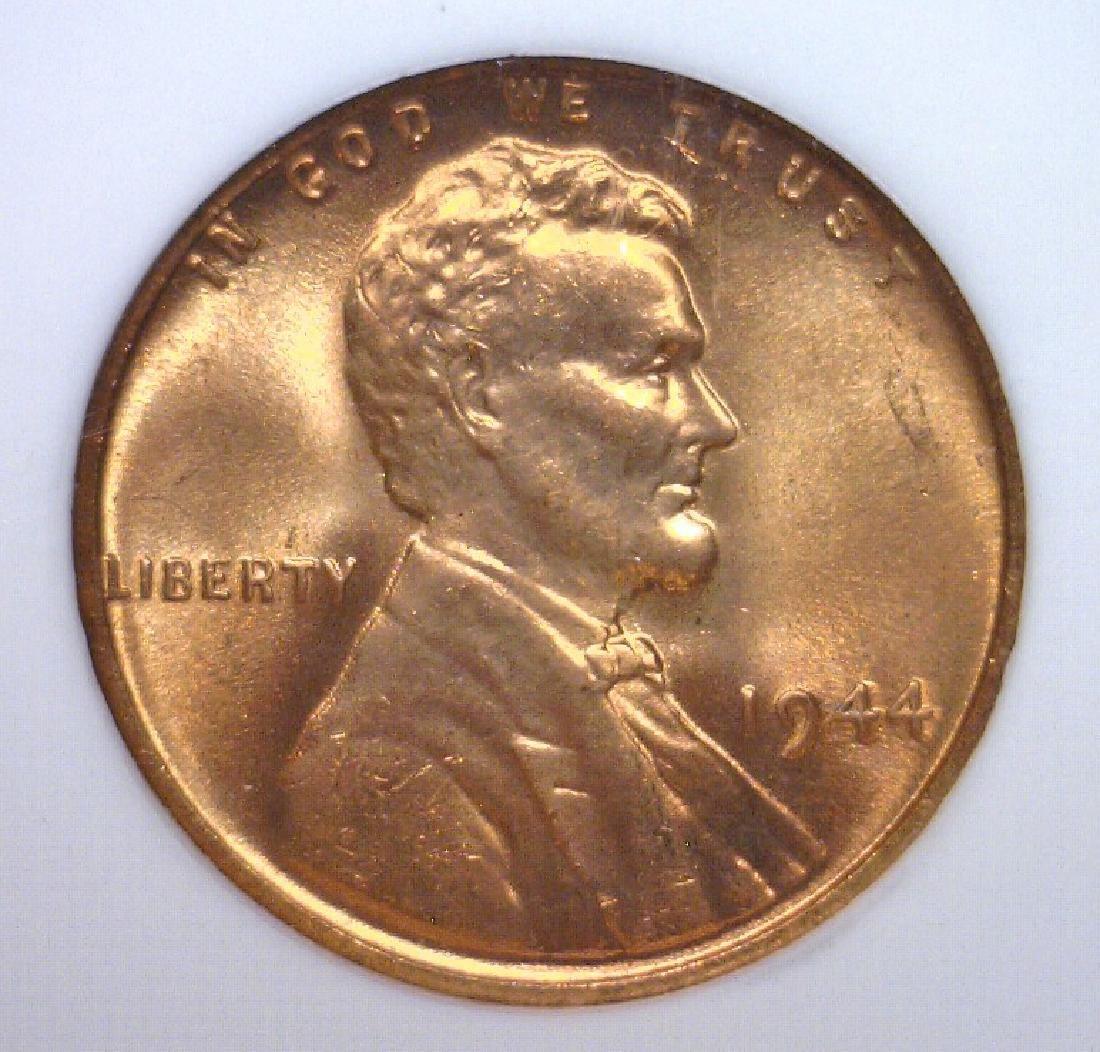 1944 Lincoln Cent NGC MS66 RD