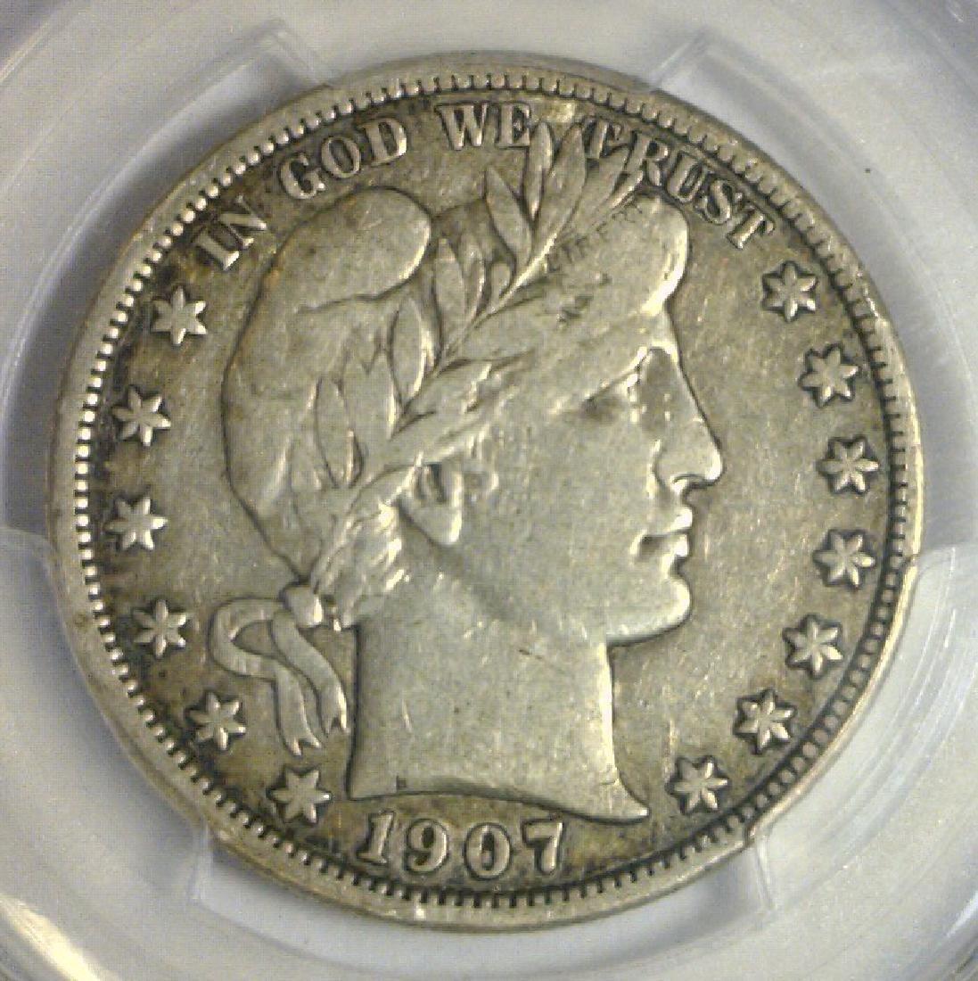 1907-D Barber Silver Half PCGS Very Fine VF25