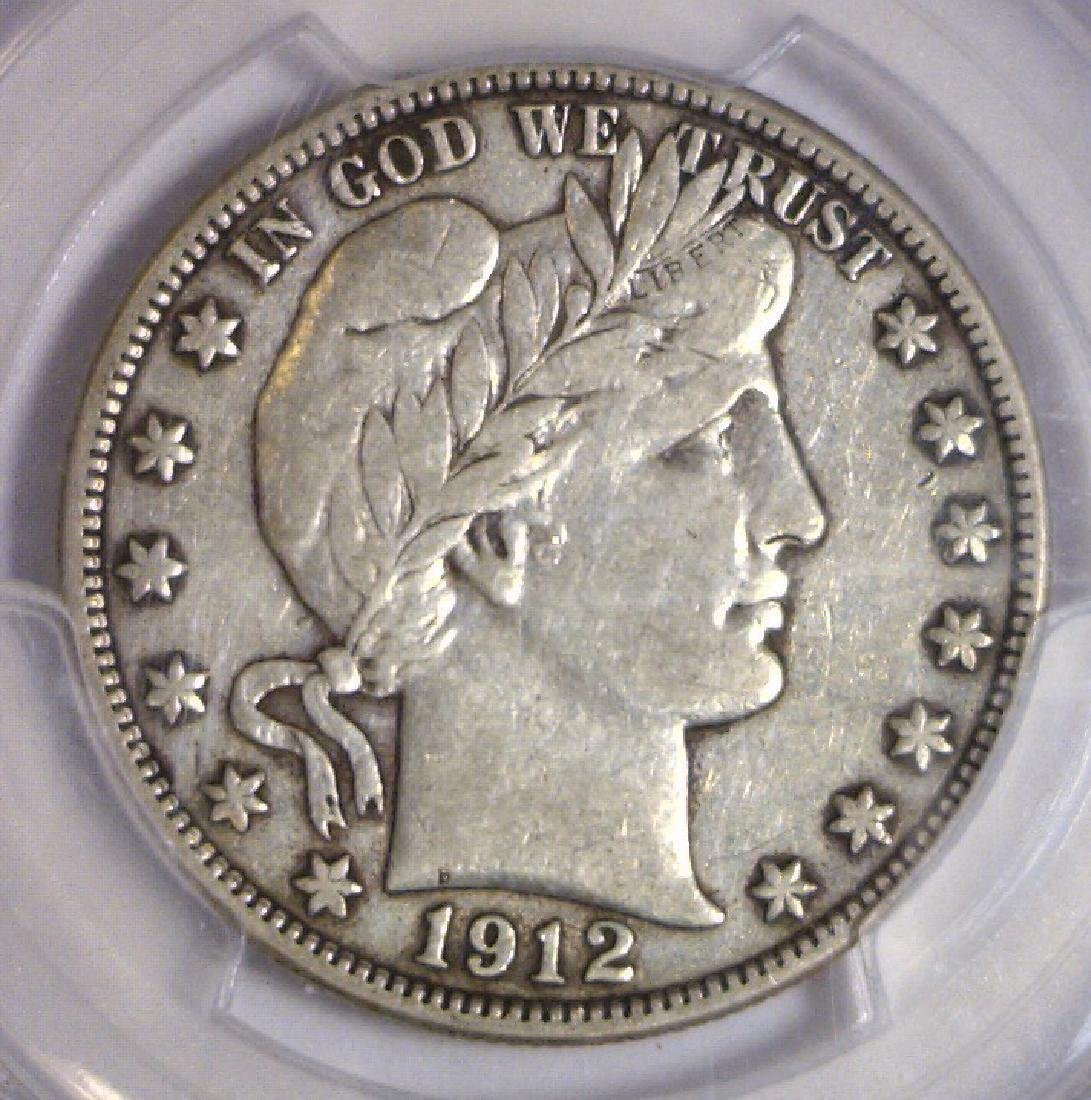 1912-D Barber Silver Half PCGS Very Fine VF35