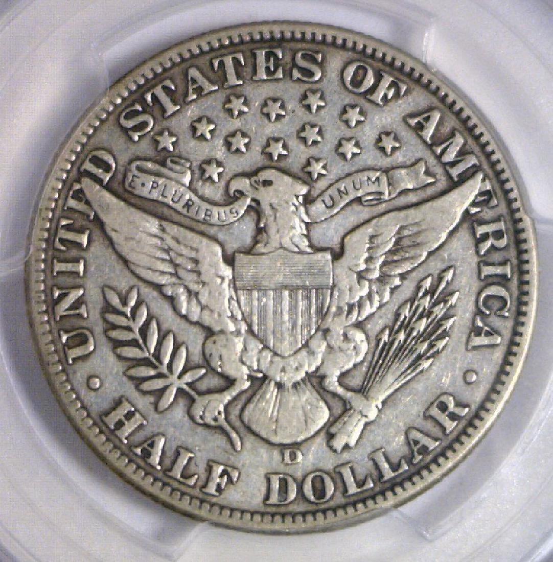 1912-D Barber Silver Half PCGS Very Fine VF35 - 3
