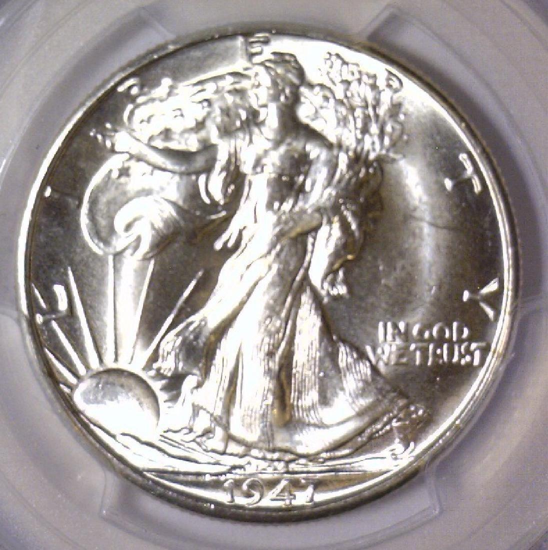 1947-D Walking Liberty Silver Half PCGS MS64