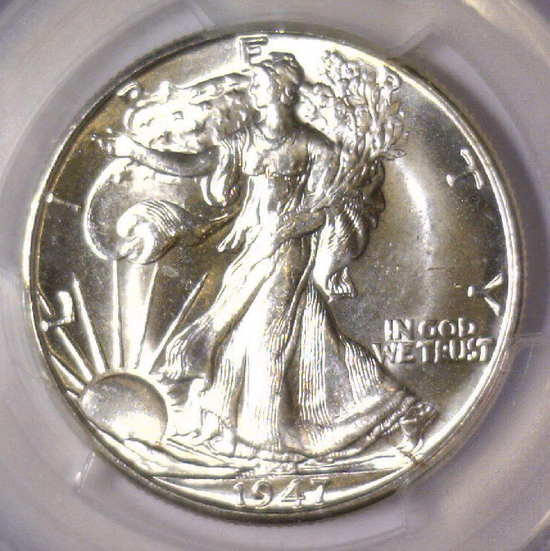 1947-D Walking Liberty Silver Half PCGS MS64