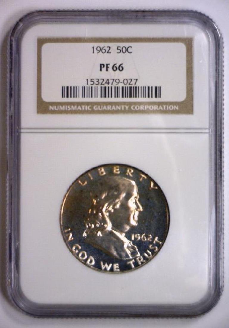 1962 Franklin Half Silver Proof NGC PF66 - 2