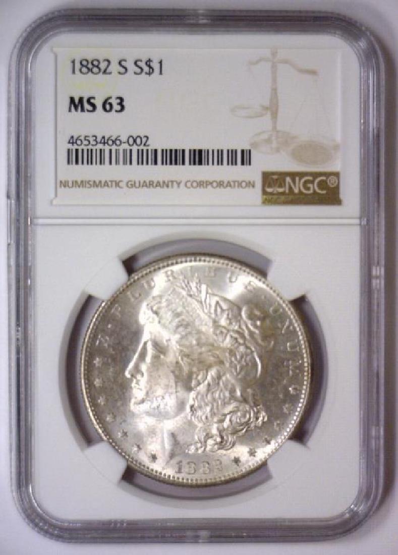 1882-S Morgan Silver Dollar NGC MS63 - 2