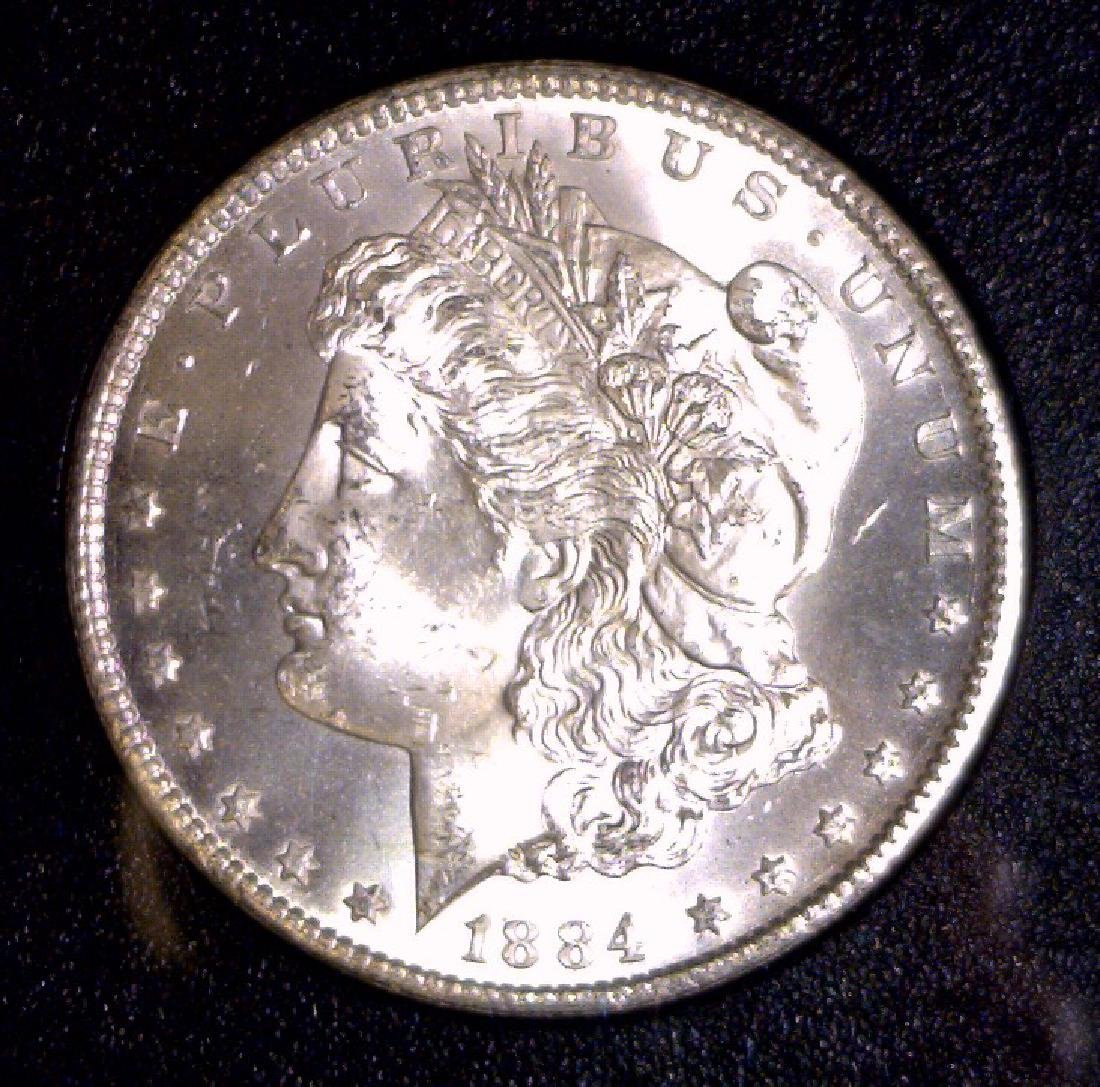 1884-CC Morgan Silver $1 GSA BU Uncirculated UNC