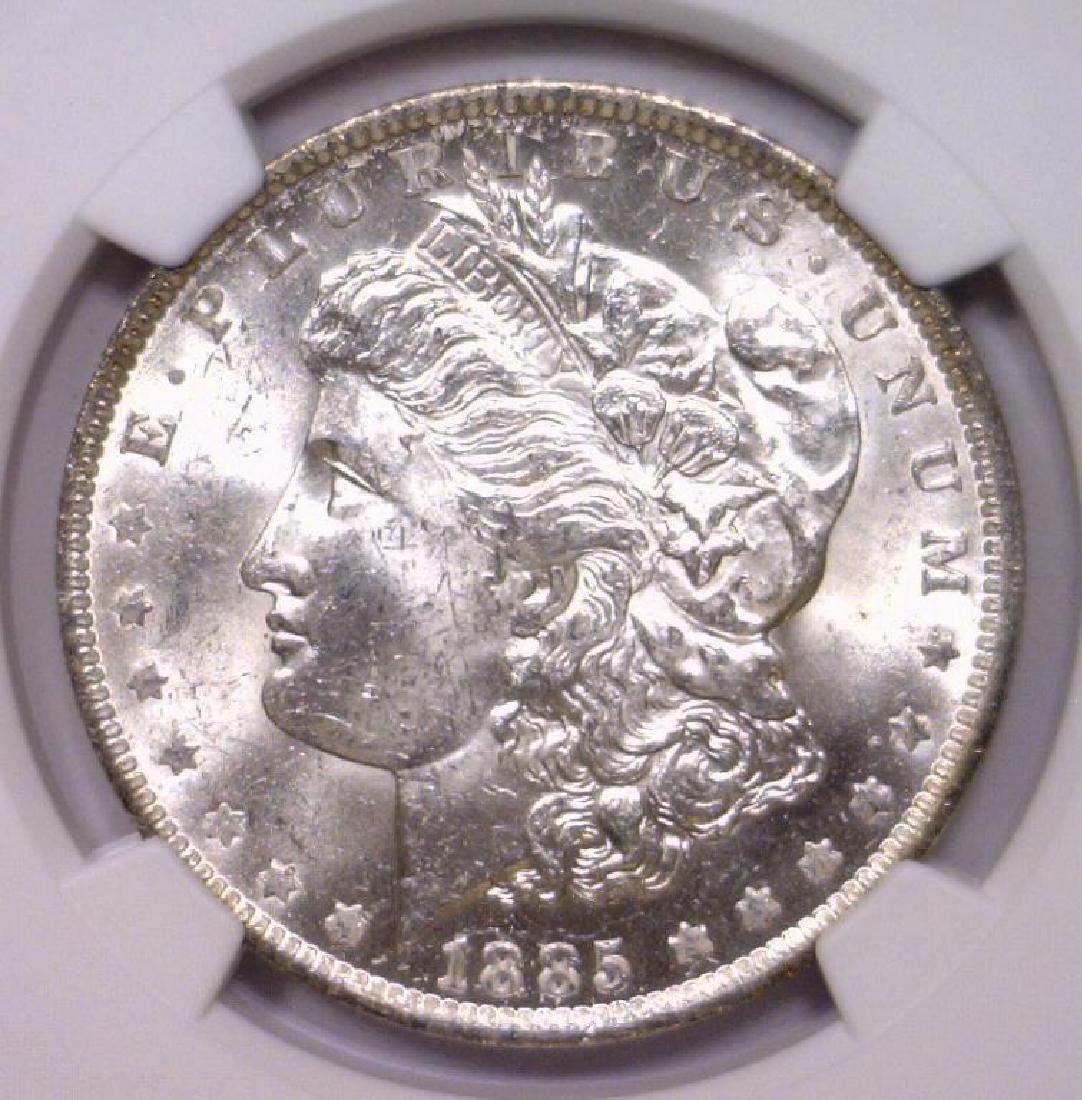 1885 O Morgan Silver Dollar NGC MS63