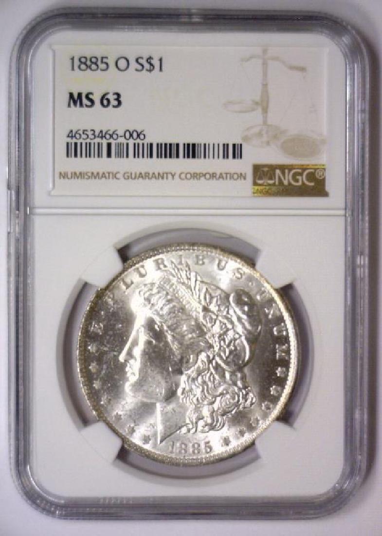 1885 O Morgan Silver Dollar NGC MS63 - 2