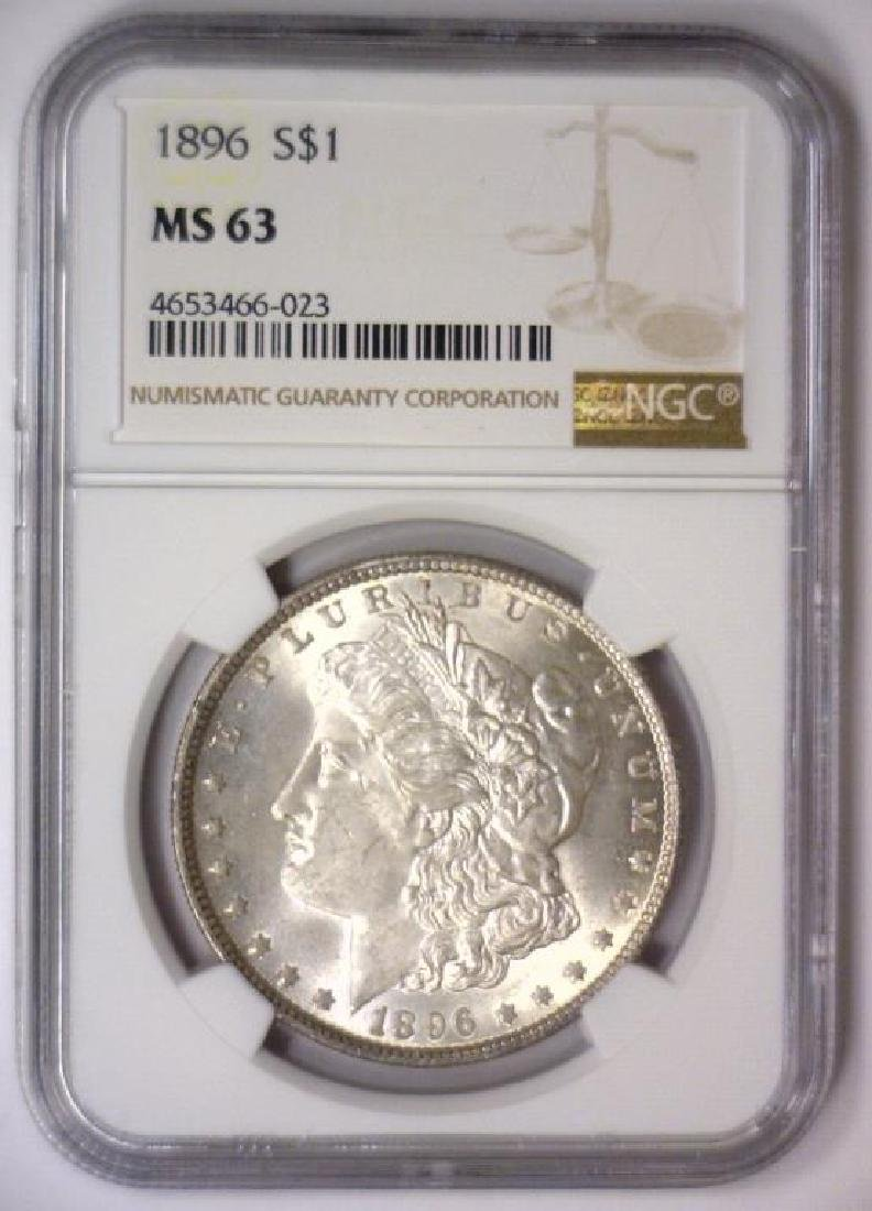 1896 Morgan Silver Dollar NGC MS63 - 2