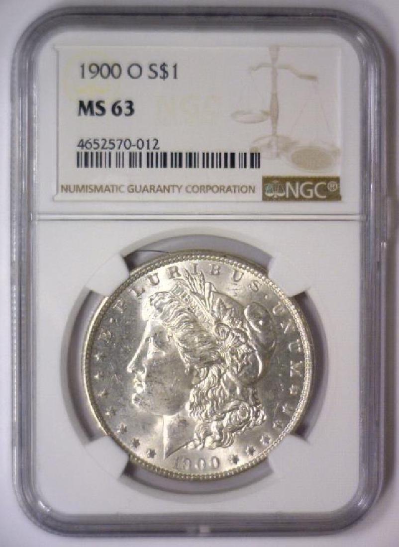 Investor Lot of 5 1900 O Morgan Silver $1 NGC MS63 - 10
