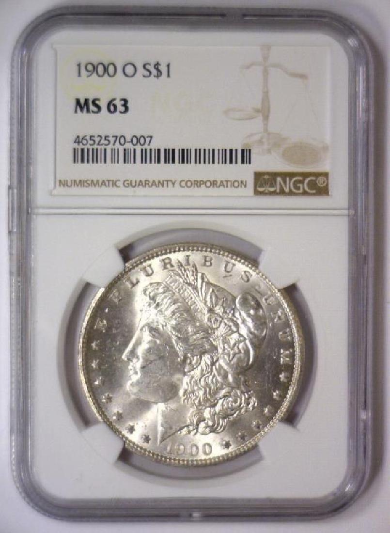 Investor Lot of 5 1900 O Morgan Silver $1 NGC MS63 - 2