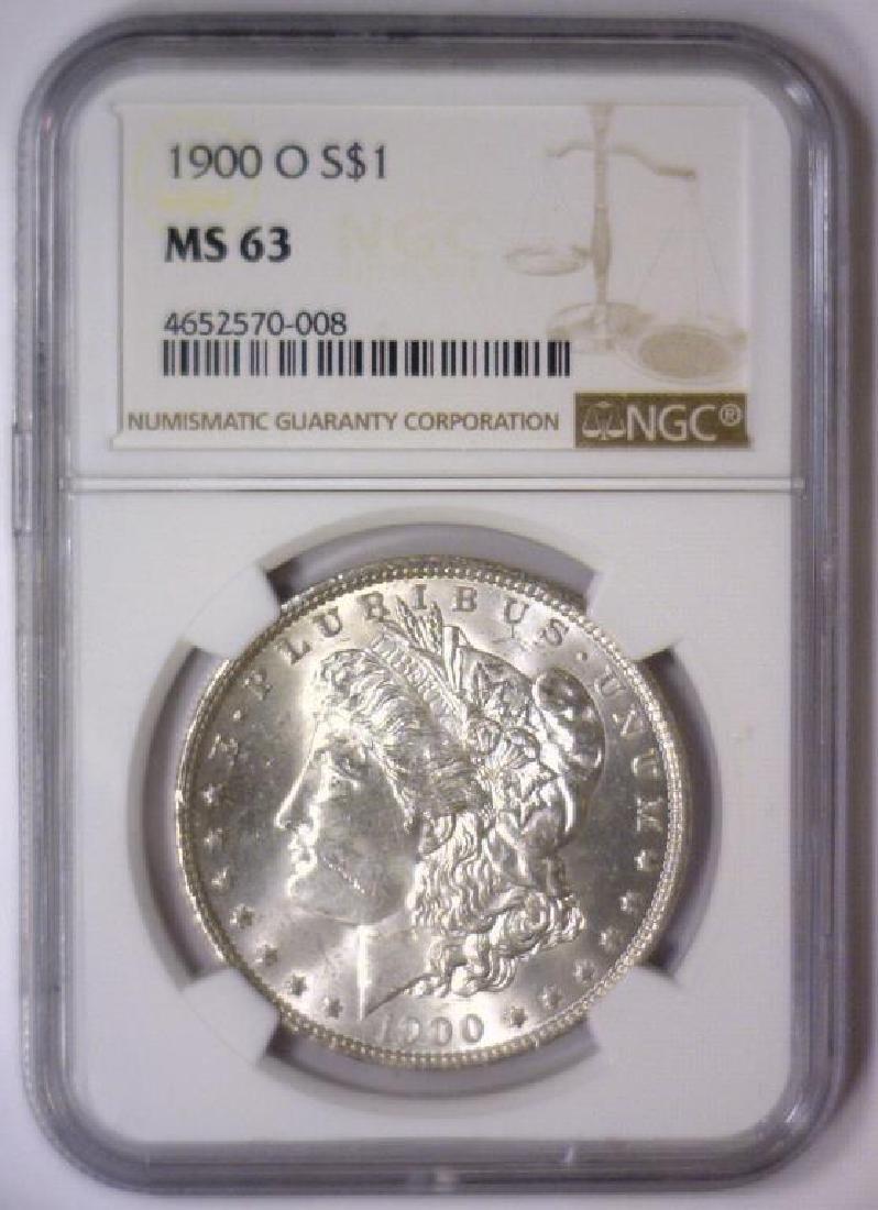 Investor Lot of 5 1900 O Morgan Silver $1 NGC MS63 - 4