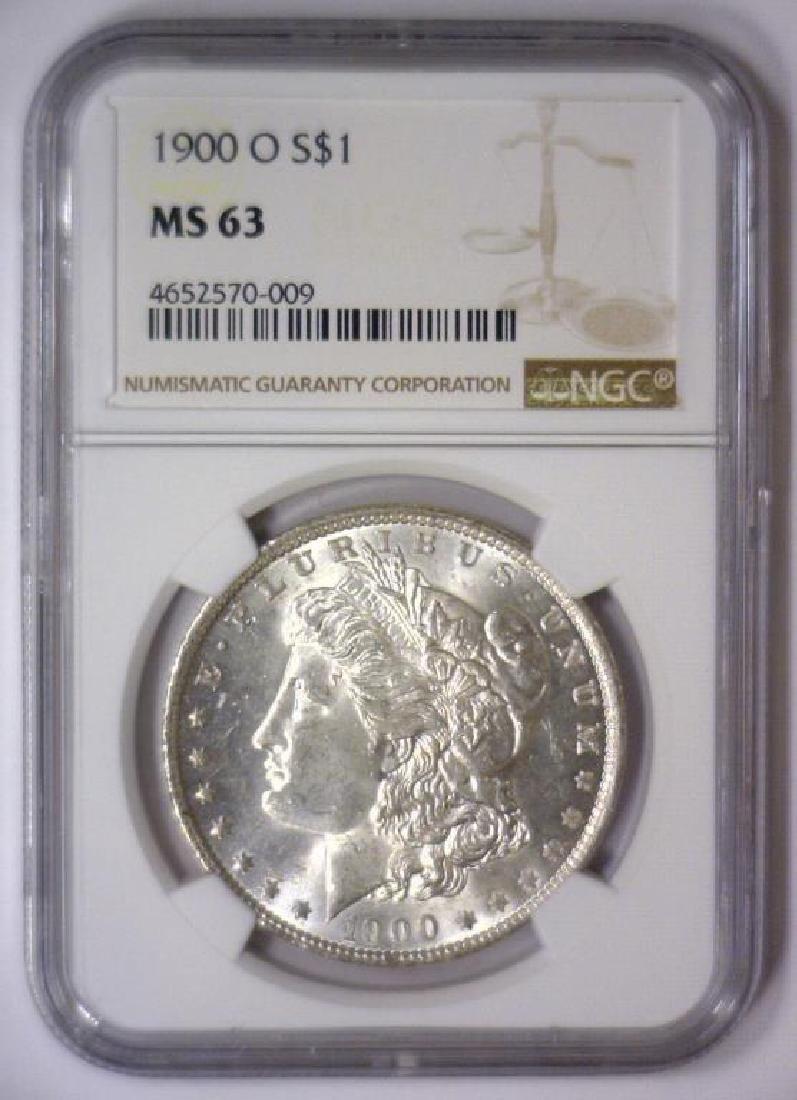 Investor Lot of 5 1900 O Morgan Silver $1 NGC MS63 - 6