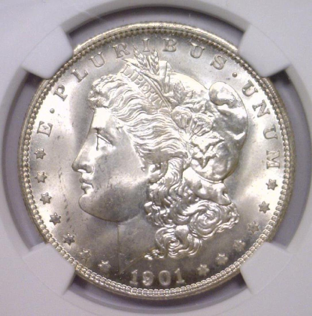 1901 O Morgan Silver Dollar NGC MS66