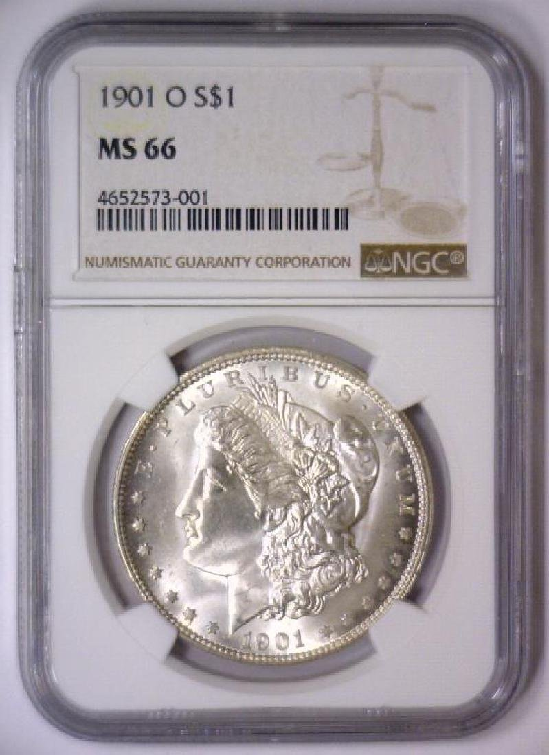 1901 O Morgan Silver Dollar NGC MS66 - 2