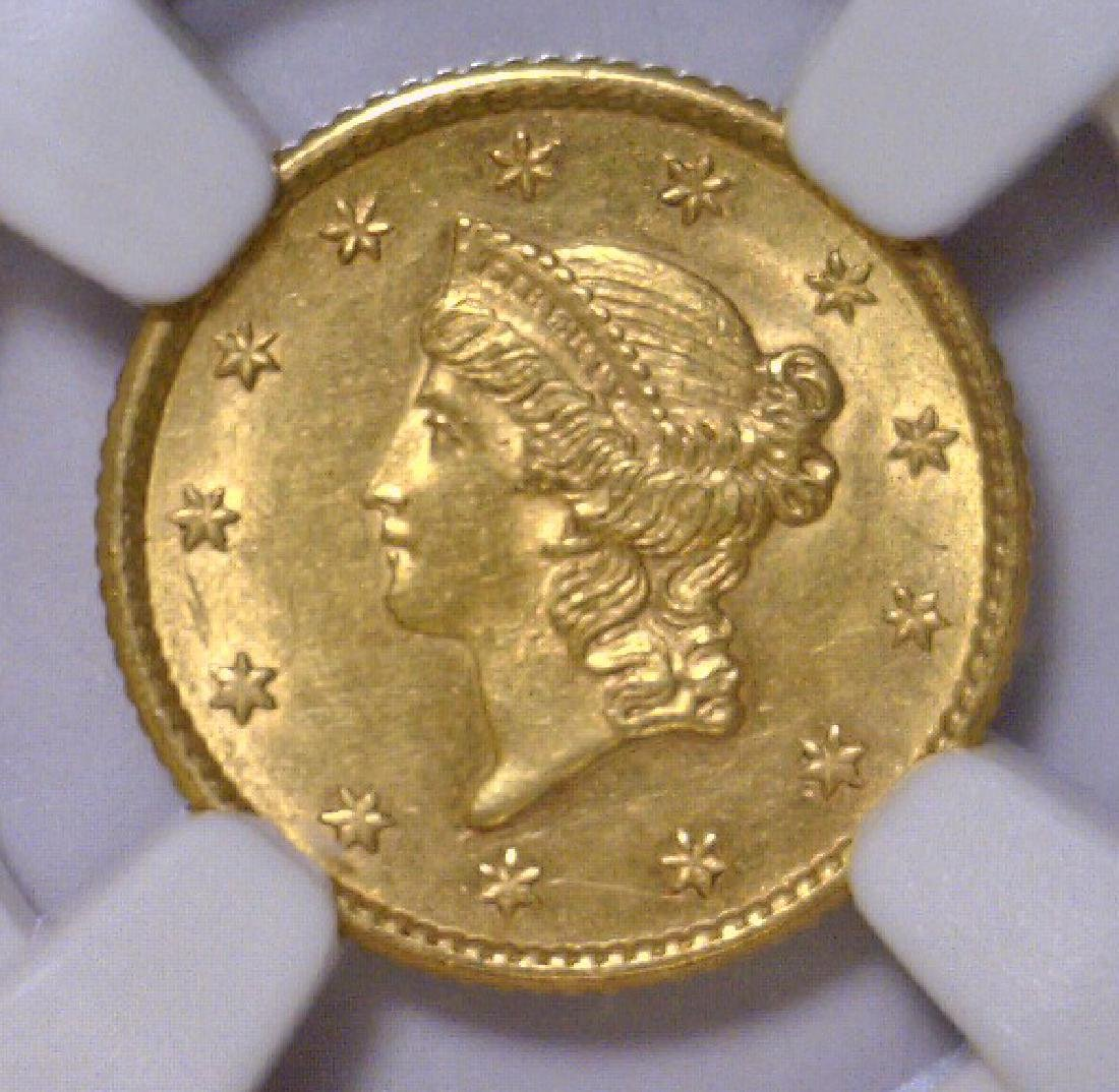 1853 Liberty Head Gold Dollar NGC MS62