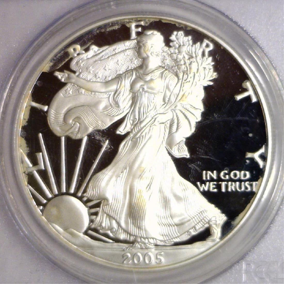2005 W Proof Silver American Eagle PCGS PR69 DCAM