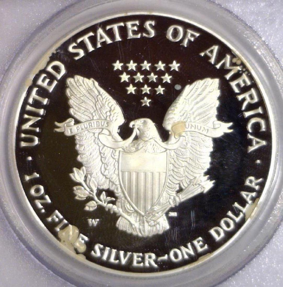 2005 W Proof Silver American Eagle PCGS PR69 DCAM - 3