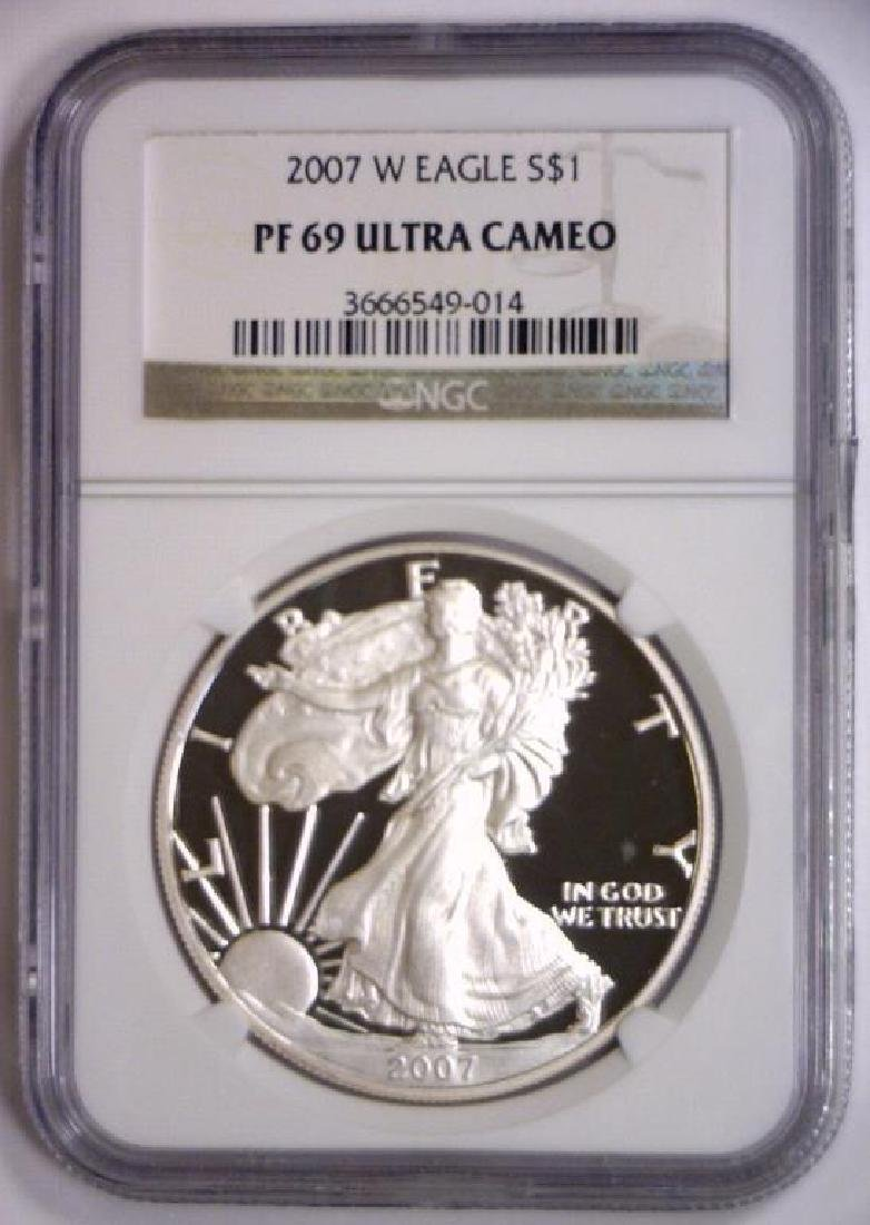 2007 W Proof Silver American Eagle NGC PF69 UCAM - 2