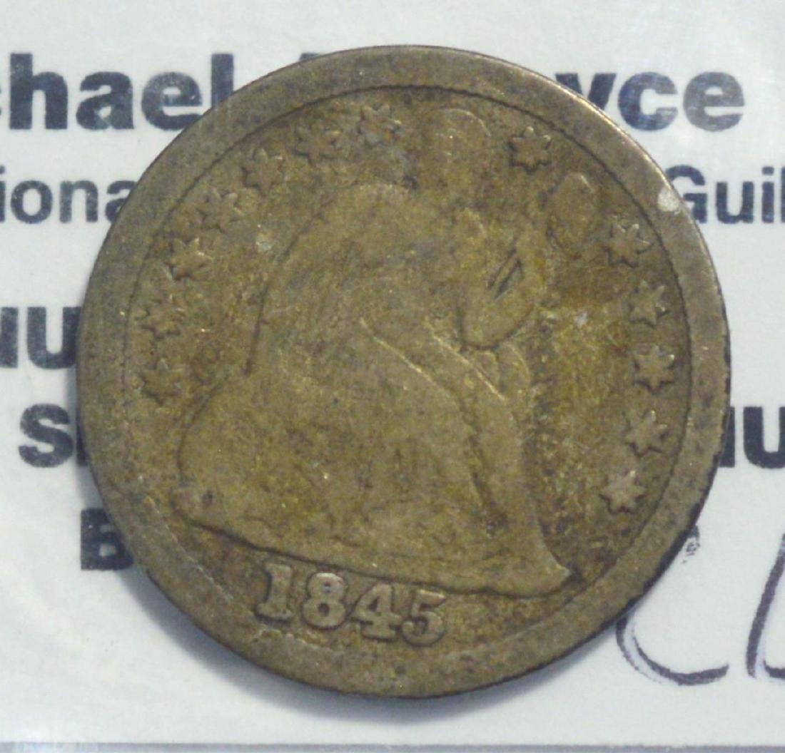 1845 Liberty Seated Dime VG