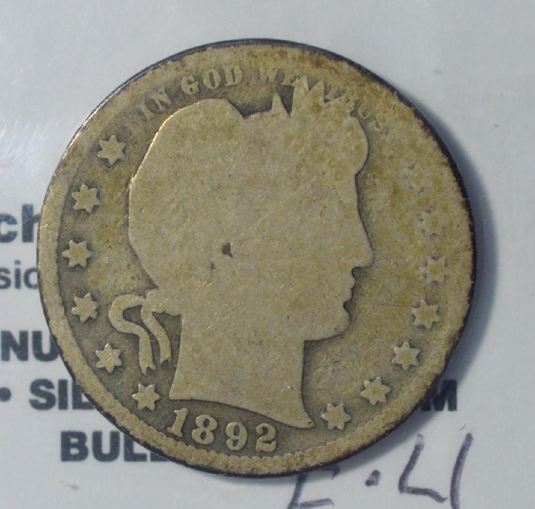 1892-O Barber Quarter Dollar Good
