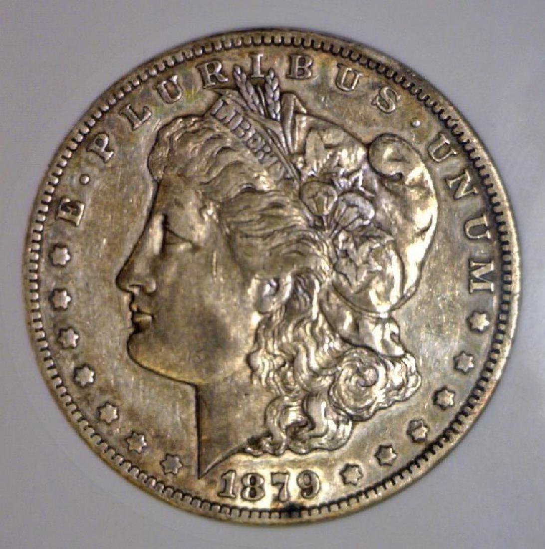 1879-CC Morgan Silver Dollar ANACS EF40 Details XF