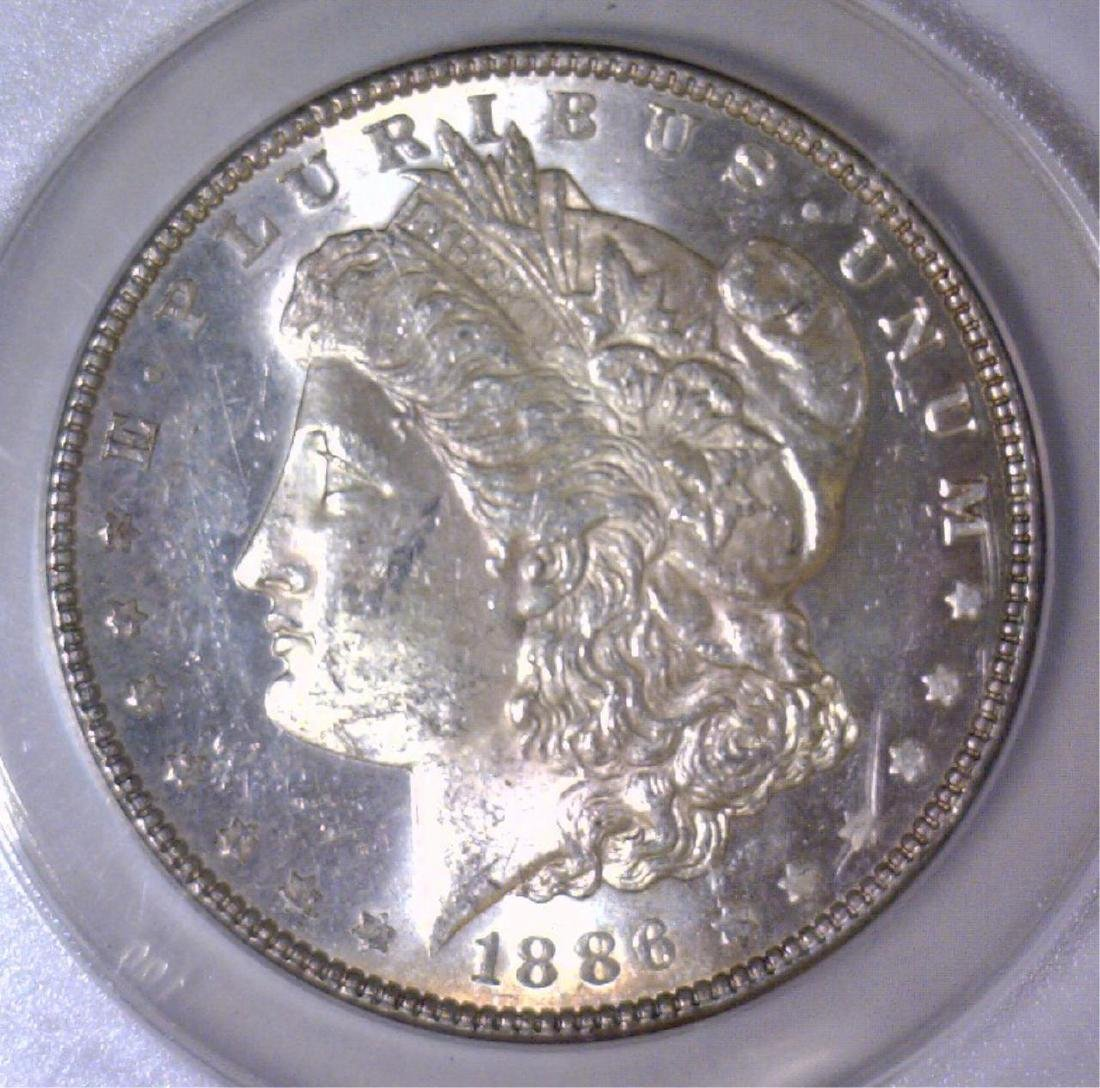 1886 Morgan Silver Dollar ANACS MS62