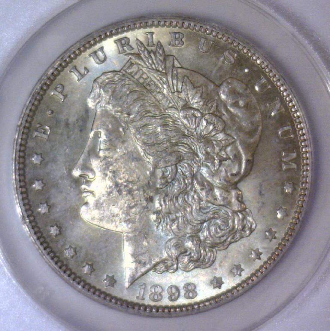 1898 Morgan Silver Dollar ANACS MS62