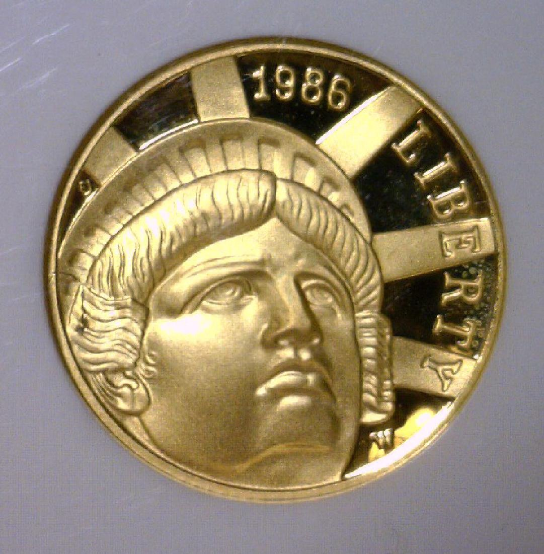 1986 $5 Gold Statue Liberty US VAULT NGC PF69 UCAM