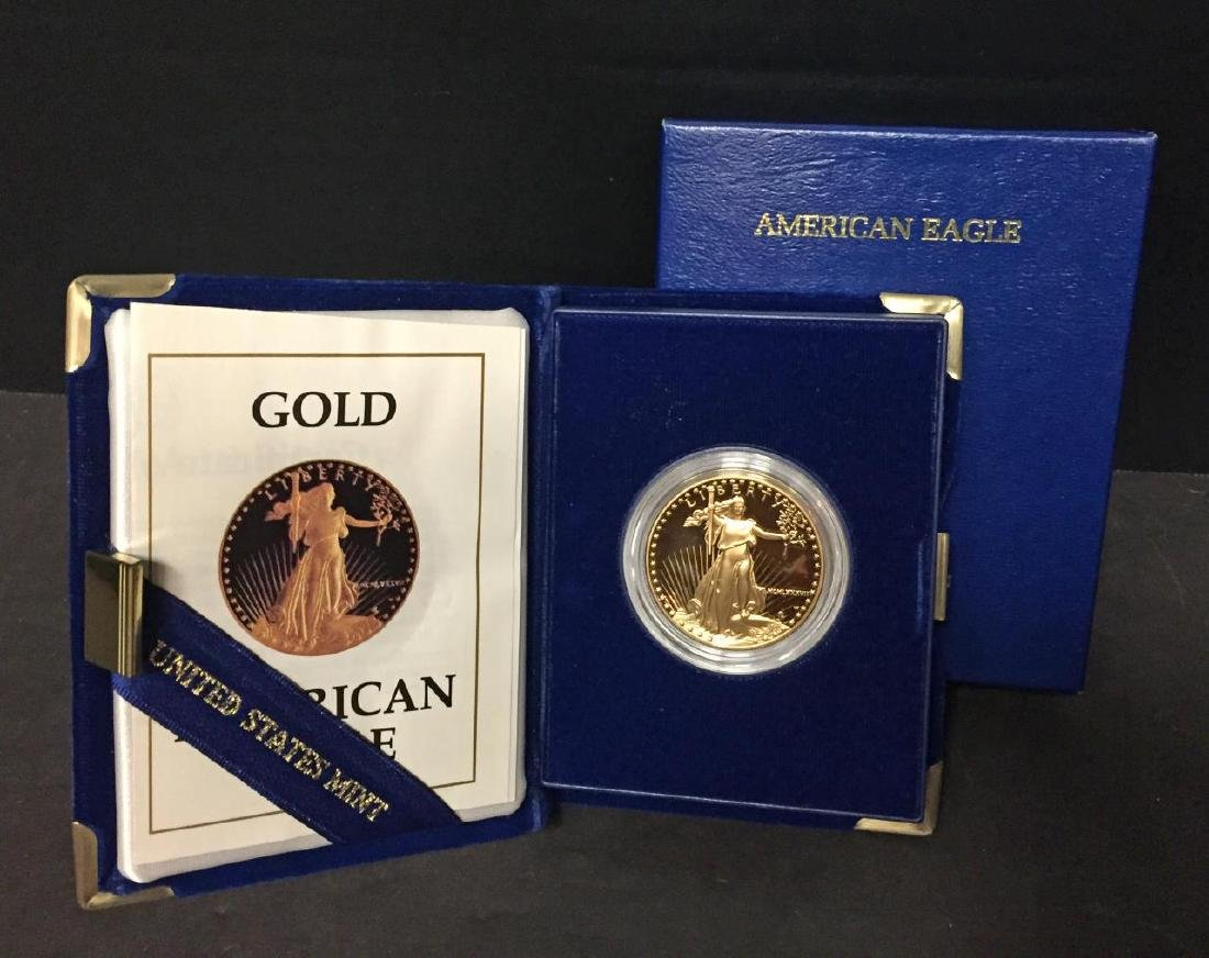 1987 $50 Proof American Gold Eagle 1 oz. Box & COA