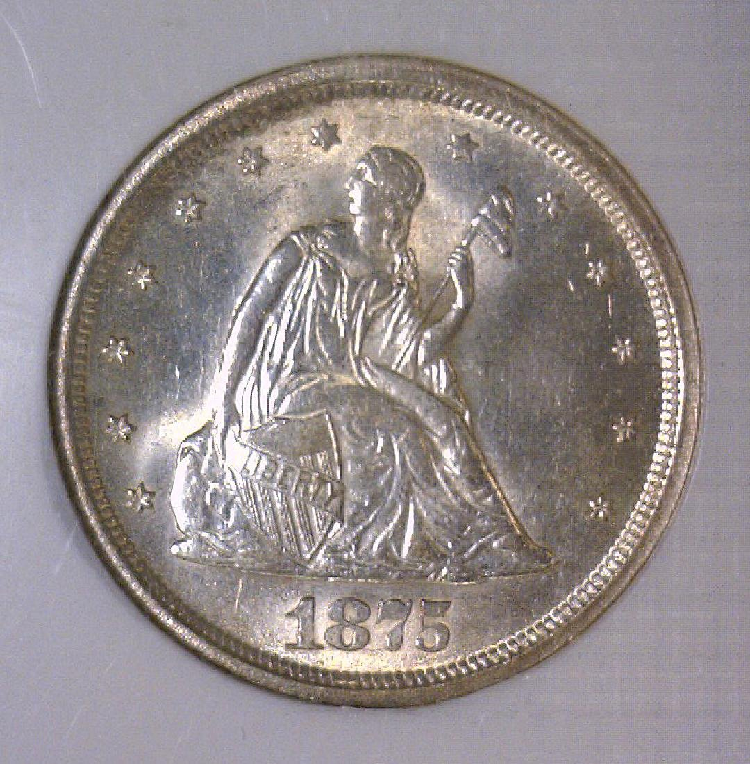 1875-S Liberty Seated Twenty Cent Piece NGC MS64