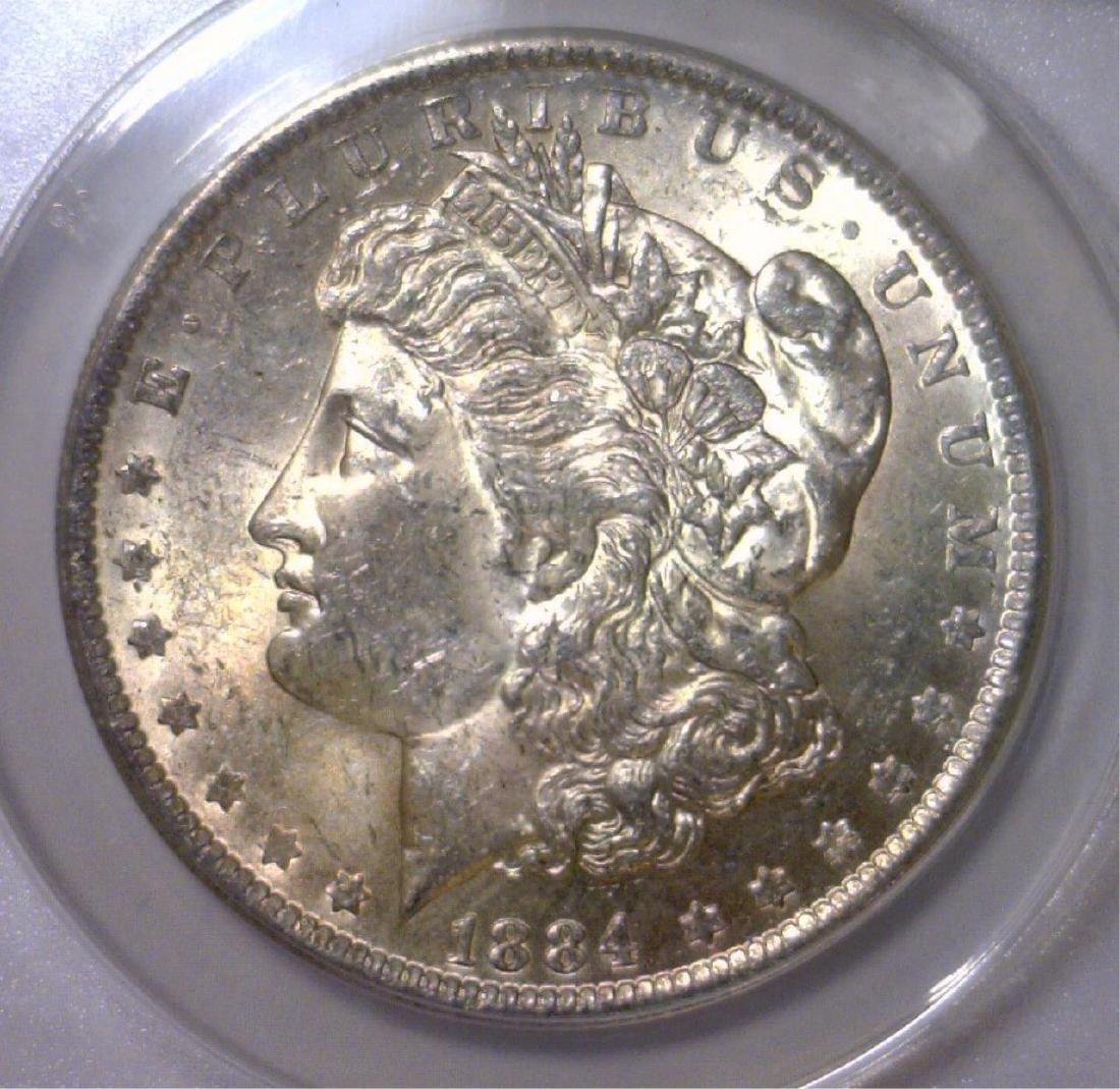 1884-O Morgan Silver Dollar ANACS MS62